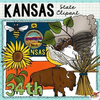 Kansas state clipart banner freeuse library Kansas State Clip Art   So Studies   Wild sunflower, Line ... banner freeuse library