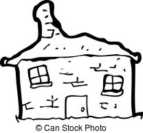 Kaputtes haus clipart clipart transparent library Vector Clip Art of old tumbledown house cartoon csp22277611 ... clipart transparent library