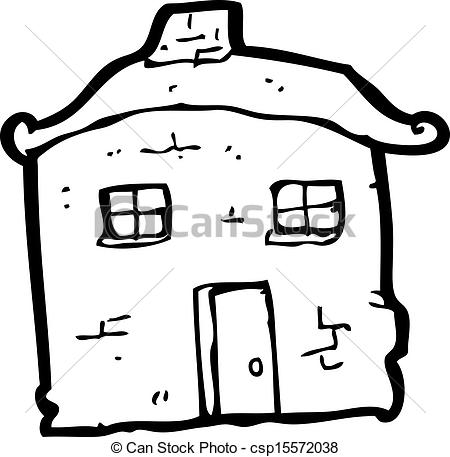Kaputtes haus clipart svg royalty free library Vectors of cartoon crumbling old house csp15572038 - Search Clip ... svg royalty free library