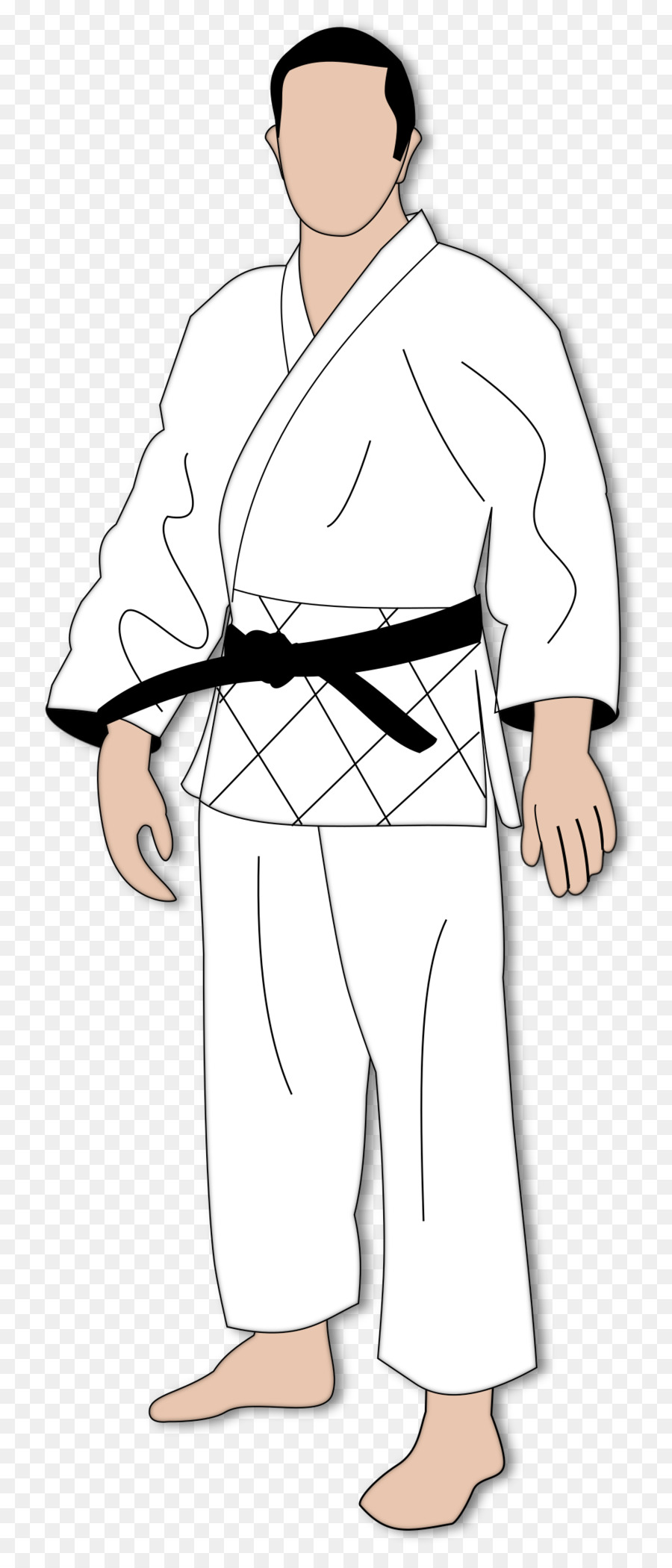 Karate gi clipart black and white download Person Cartoon clipart - Clothing, White, Man, transparent ... black and white download