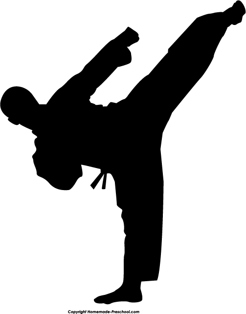 Karate kick clipart banner library download Free Karate Silhouette Cliparts, Download Free Clip Art ... banner library download