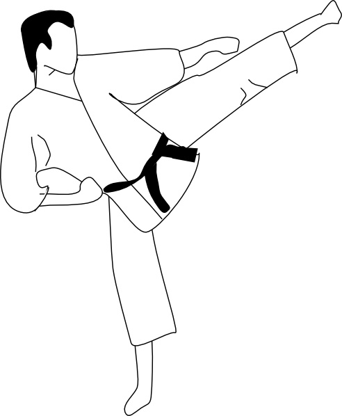 Karate kick clipart picture transparent stock Karate Kick clip art Free vector in Open office drawing svg ... picture transparent stock