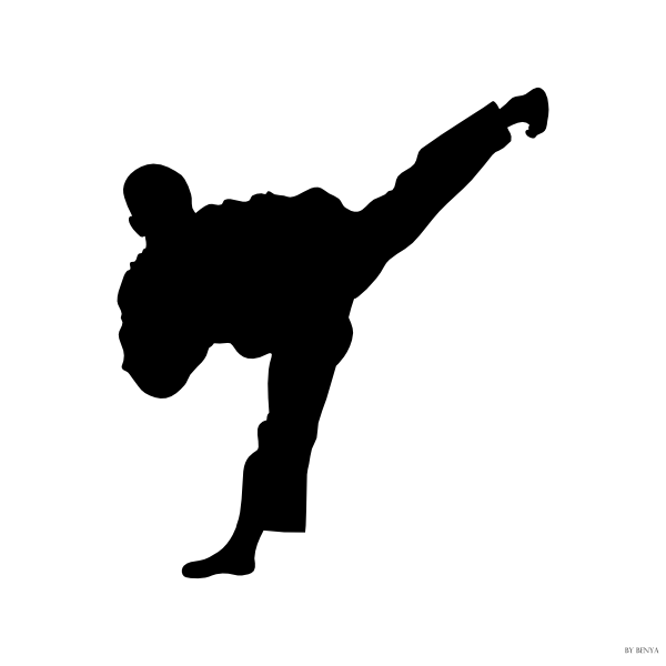 Karate kick clipart graphic freeuse stock Taekwondo Kick Side Clip Art at Clker.com - vector clip art ... graphic freeuse stock