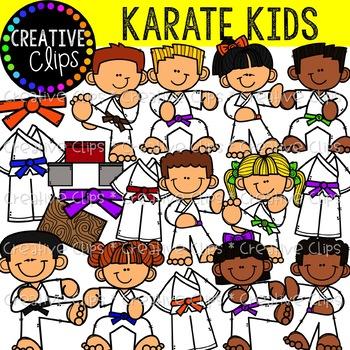 Karate kids clipart graphic stock Karate Kids {Creative Clips Clipart} graphic stock