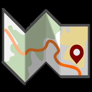 Karte clipart banner stock Vector image of folded map   Public domain vectors banner stock