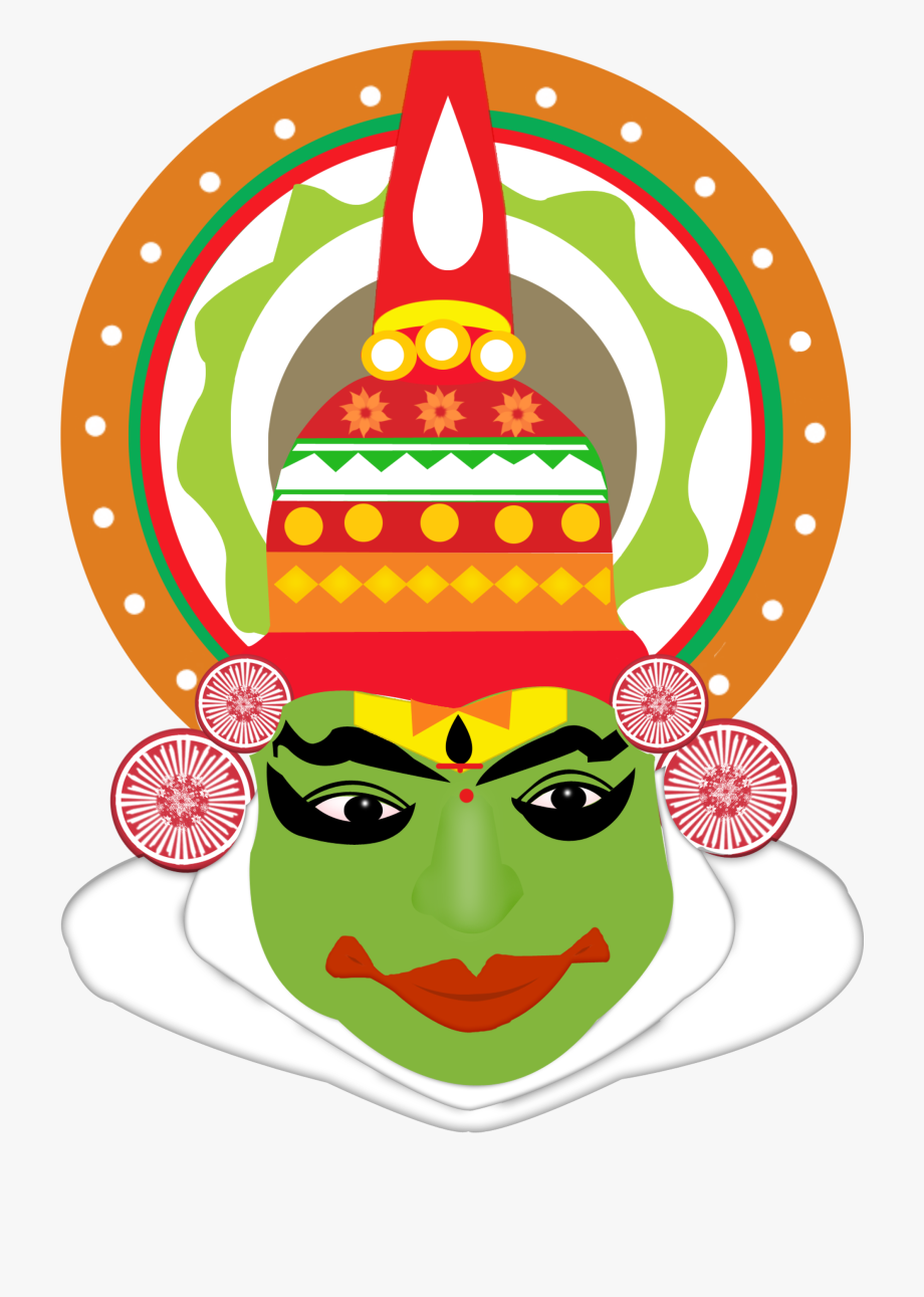 Kathakali clipart jpg black and white download Kathakali Dance Clipart - North India Clipart , Transparent ... jpg black and white download