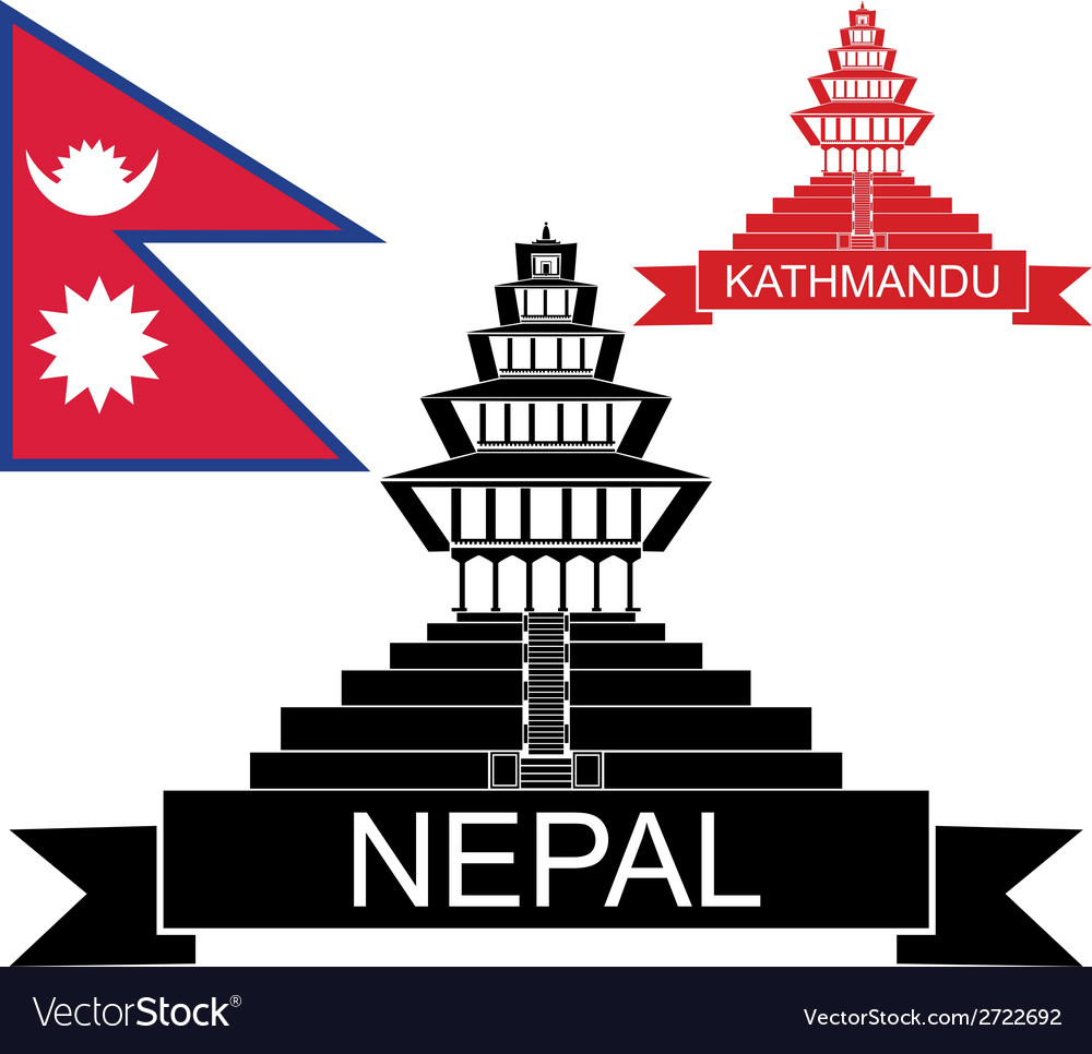 Kathmandu logo clipart clip library download Nepal vector image clip library download