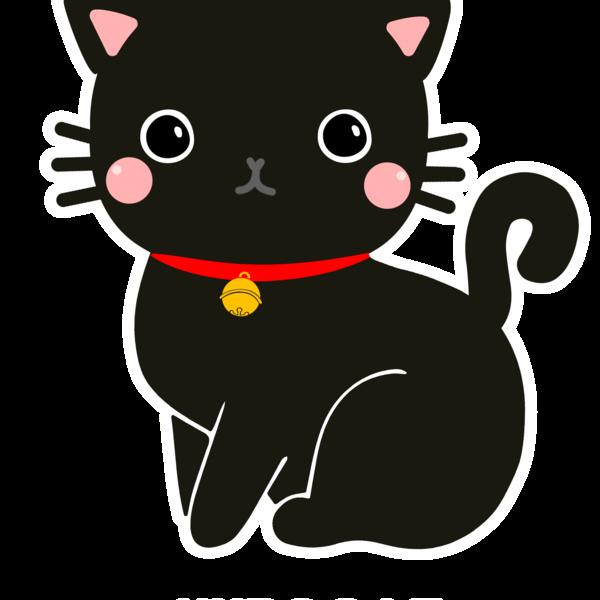 Kawaii black cat clipart banner download Kurocat Kawaii by neilabbott kids t-shirt by neilabbott ... banner download