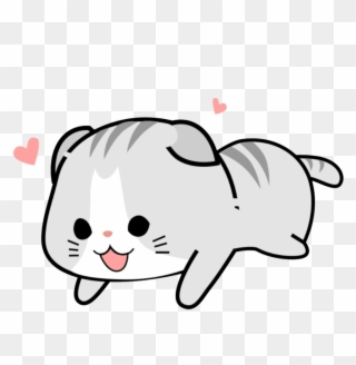 Kawaii cat clipart black and white royalty free picture download Sticker Kawaii Cute Pink Soft Cat - Kawaii Cute Cats Png ... picture download