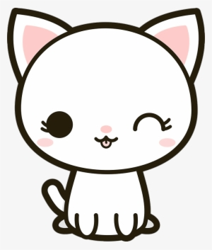 Kawaii cat clipart black and white royalty free clipart download Kawaii Cat PNG & Download Transparent Kawaii Cat PNG Images ... clipart download