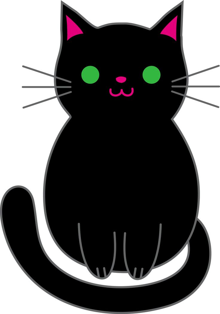 Kawaii cat clipart black and white royalty free clipart black and white Christmas Kitten Clipart | Free download best Christmas ... clipart black and white