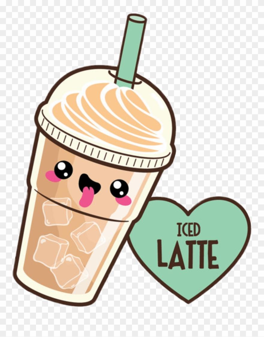 Kawaii clipart vector royalty free library Coffee Sticker - Kawaii Latte Clipart (#726891) - PinClipart vector royalty free library