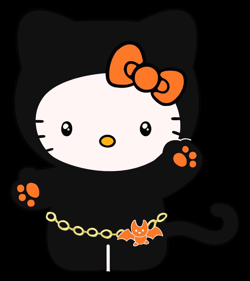 Kawaii clipart halloween vector stock Hello, Halloween Kitty by shynies on DeviantArt vector stock