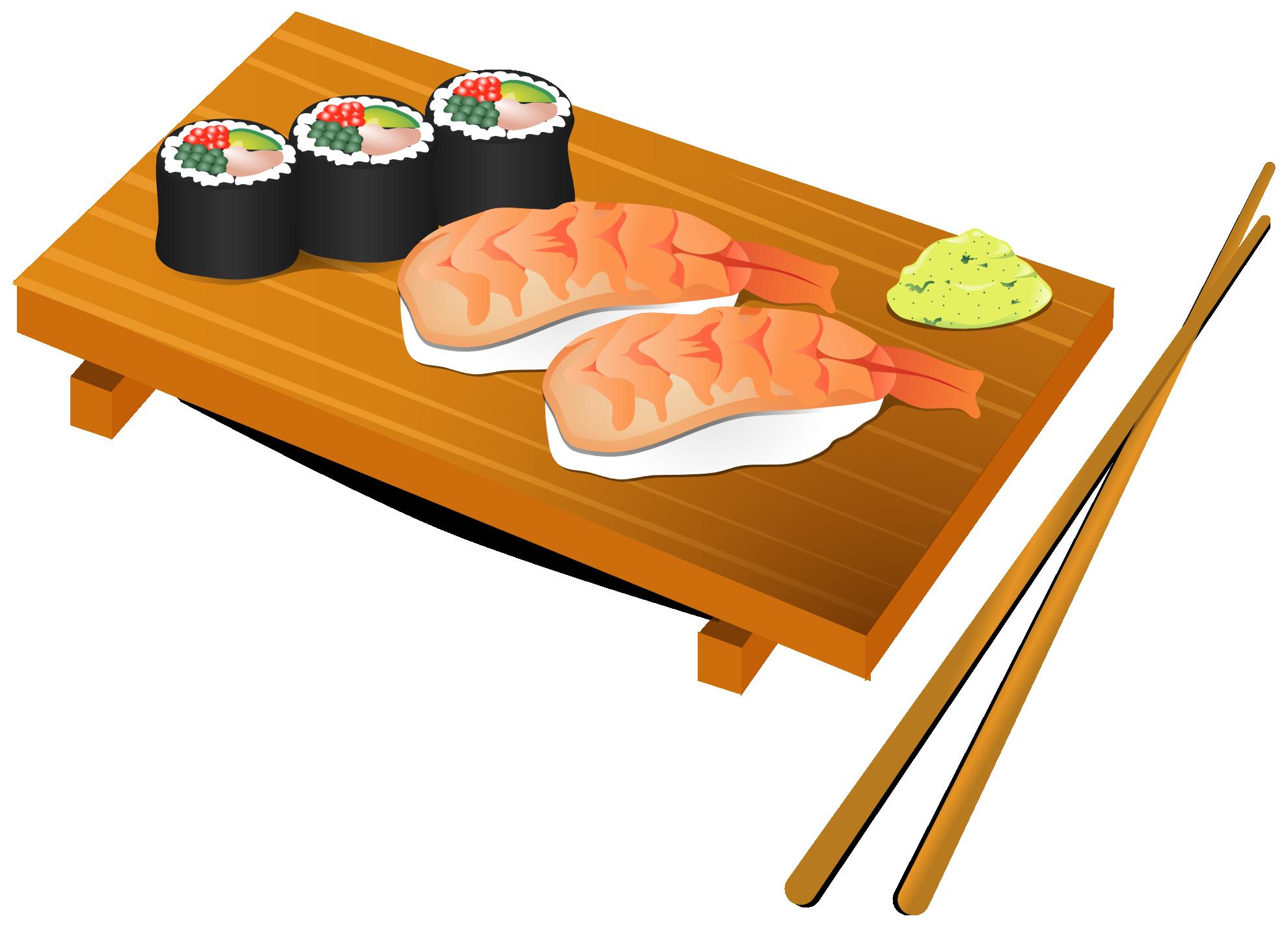 Kawaii fish food clipart jpg transparent stock Sushi Clip Art Free | Clipart Panda - Free Clipart Images jpg transparent stock