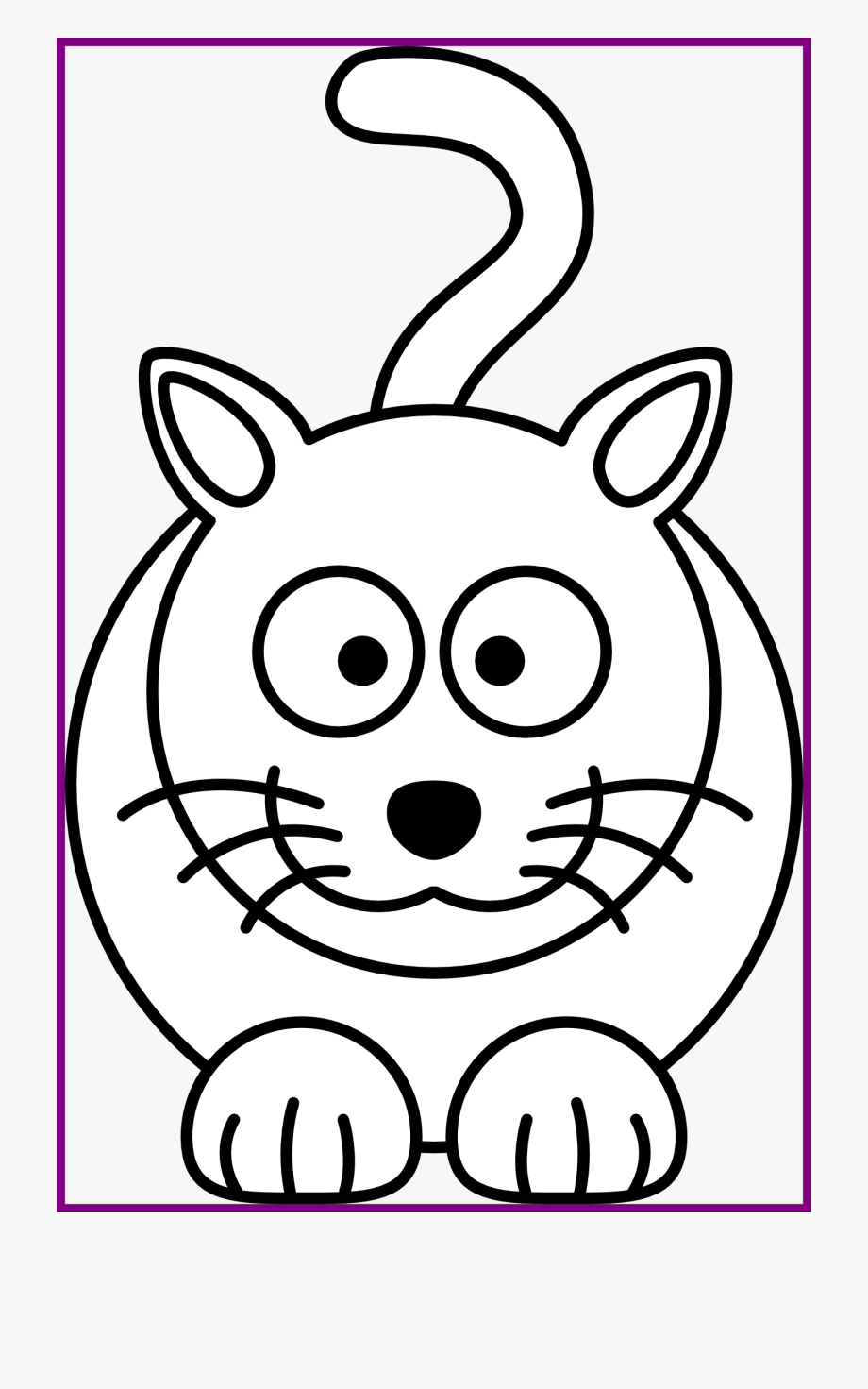 Kawaii kitten outline clipart black and white vector royalty free Best Cat Face Clipart Black And White Pic Of Kitten - Easy ... vector royalty free