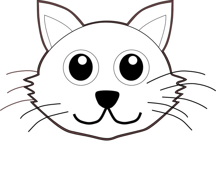 Library Of Kawaii Kitten Outline Vector Free Download Black And