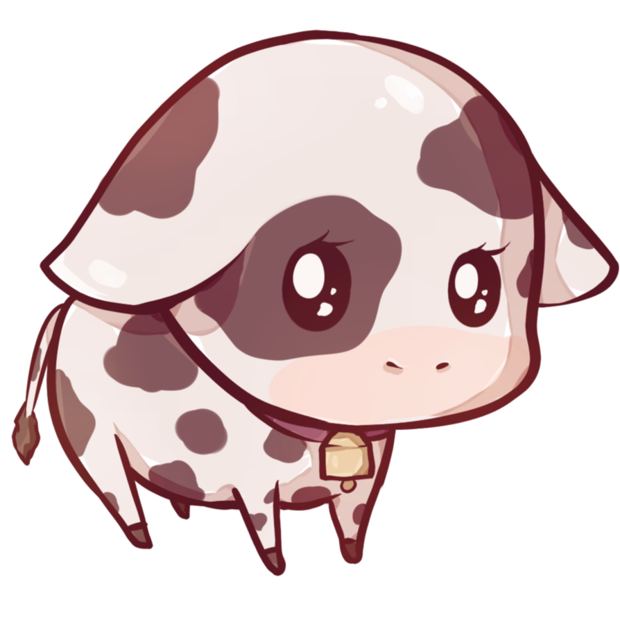Kawaii money clipart picture transparent library Clipart cow kawaii - Graphics - Illustrations - Free Download on ... picture transparent library