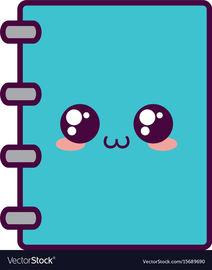 Kawaii notepad clipart graphic royalty free Kawaii notebook icon image vector image graphic royalty free