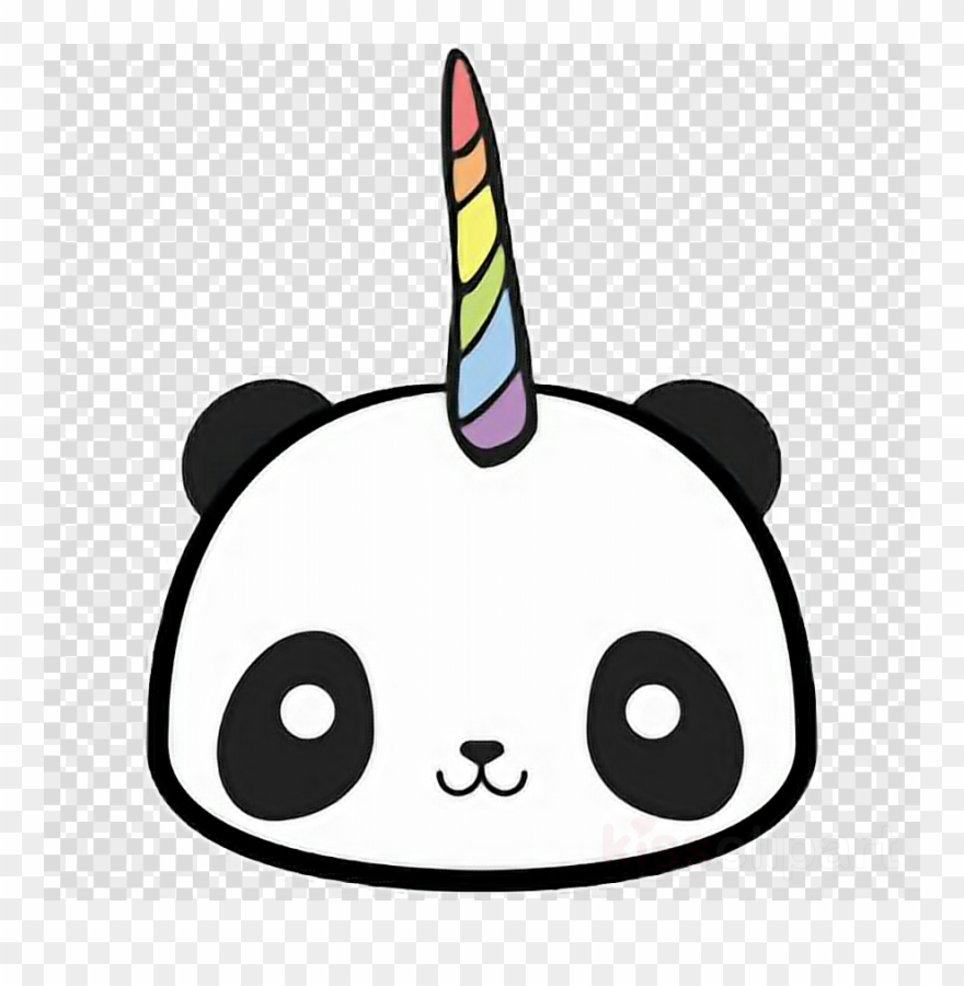 Kawaii panda clipart library Download Kawaii Panda Unicorn Clipart Giant Panda T-shirt ... library