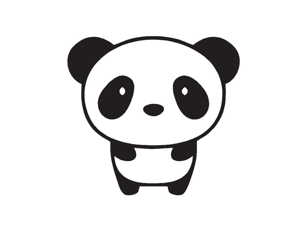 Kawaii panda clipart clip art black and white Kawaii Panda Drawing | Free download best Kawaii Panda ... clip art black and white