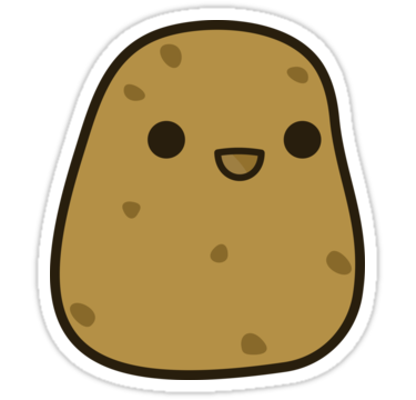 Kawaii potato clipart jpg free stock Cute potato\' Sticker by peppermintpopuk | Happy Stuff | Cute ... jpg free stock