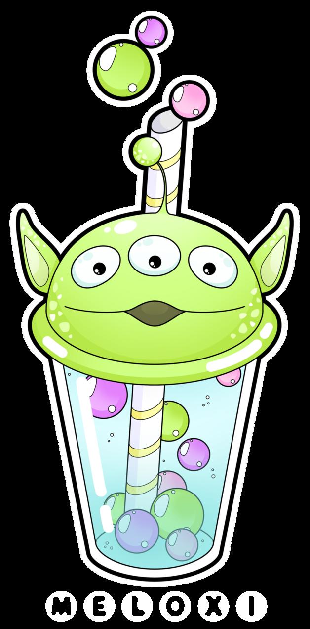 Something wearing a crown kawaii clipart jpg stock Alien bubble tea [Commissions open] by Meloxi.deviantart.com on ... jpg stock