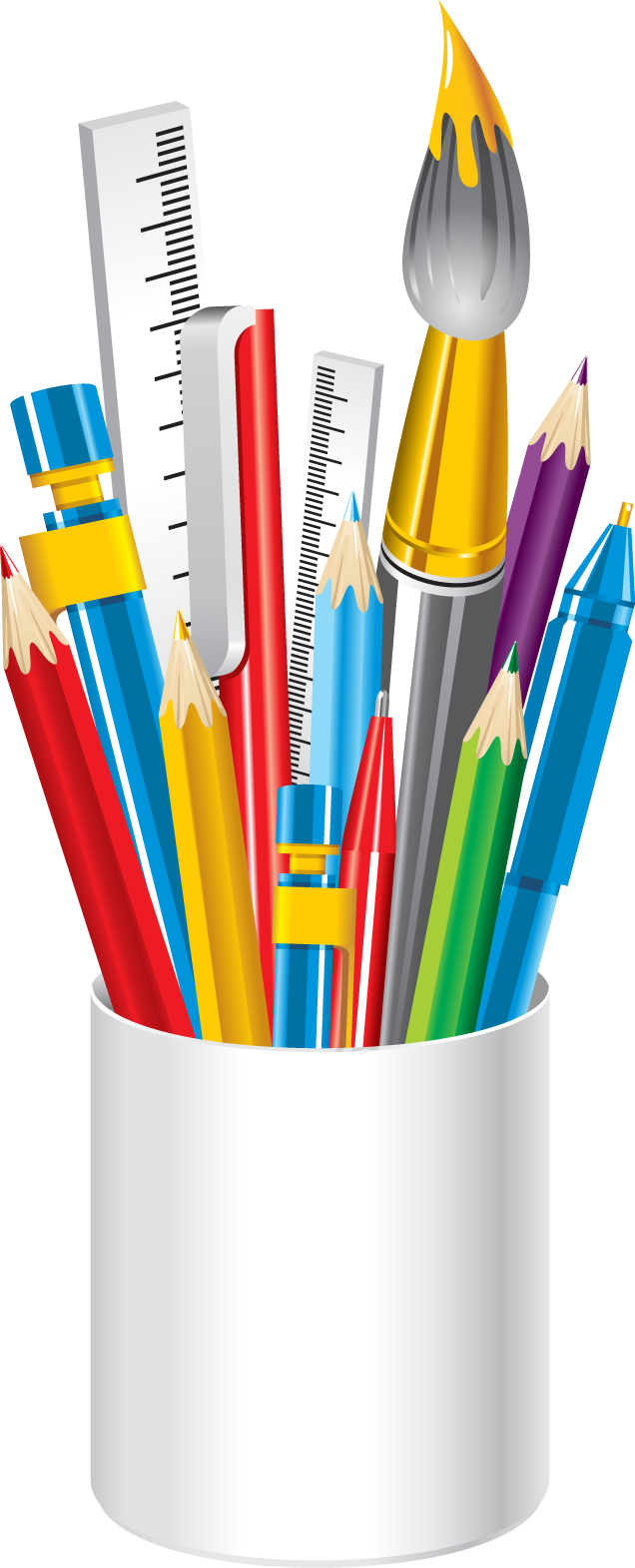 School supplies border clipart clip royalty free library Web Design & Development | Pinterest | Art supplies and Clip art clip royalty free library