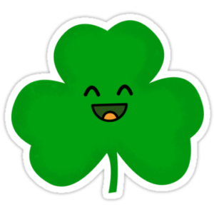 Kawaii shamrock clipart