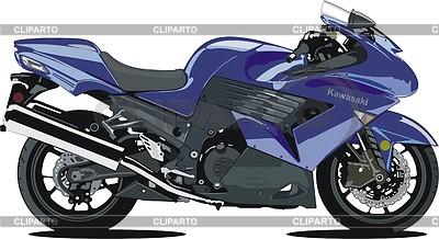 Kawasaki clipart png library stock Motorcycle Kawasaki ZX14 | Stock Vector Graphics | CLIPARTO png library stock