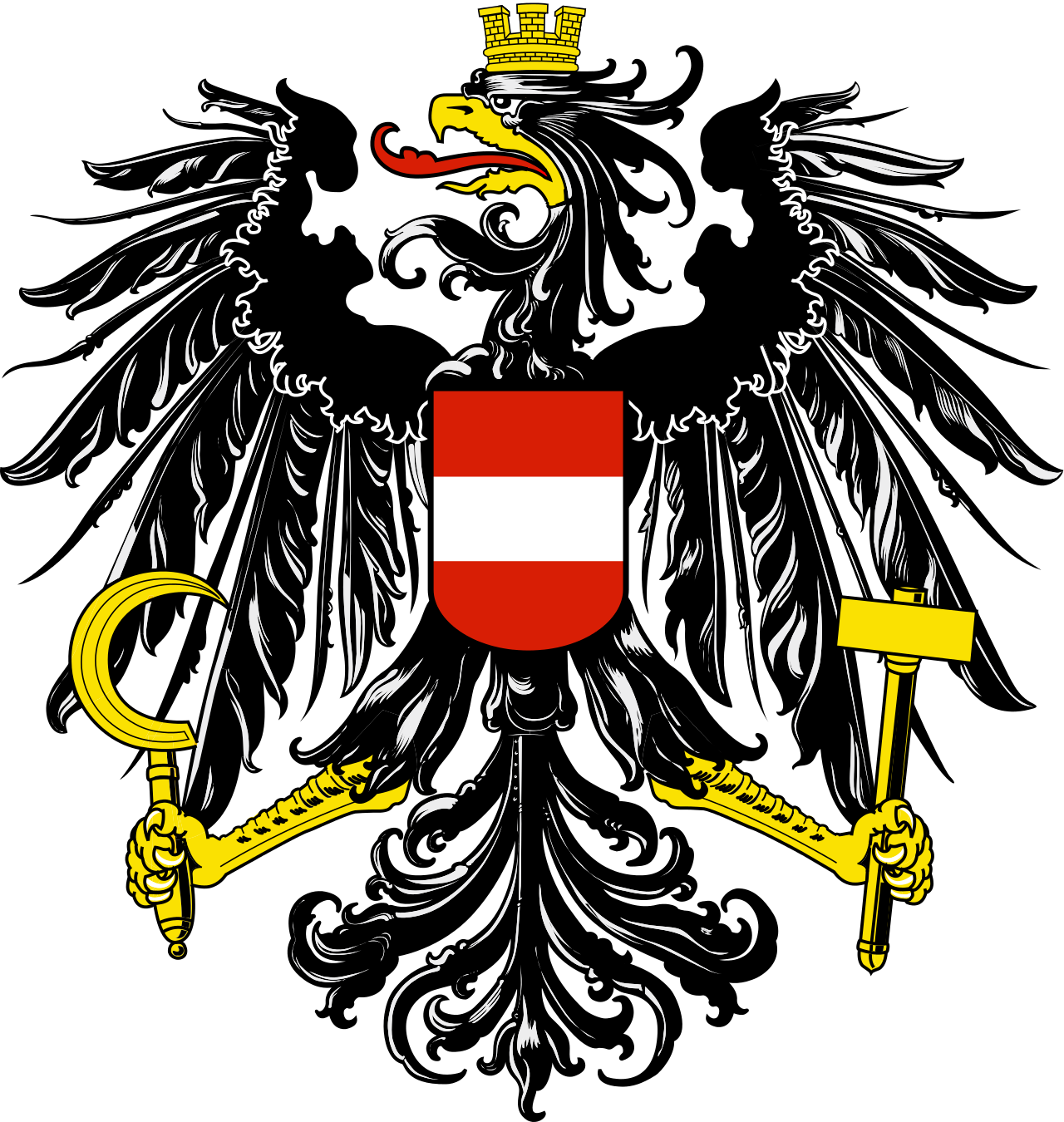 Kazakhstan eagle sun clipart banner library stock Coat of arms of Austria - Wikipedia | Tattoo inspiration | Pinterest ... banner library stock