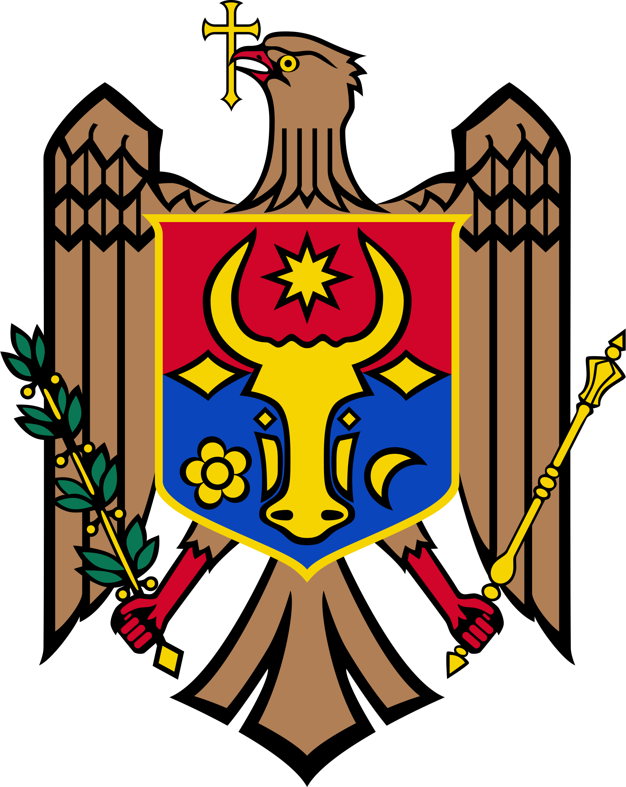 Kazakhstan eagle sun clipart transparent Coat of arms of Moldova - Wikipedia transparent
