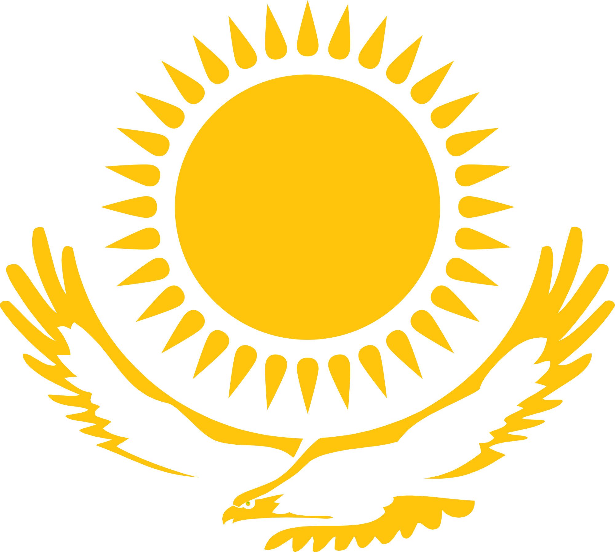 Kazakhstan eagle sun clipart image free stock File:Eagle and sun from the Kazakh flag.svg - Wikimedia Commons image free stock