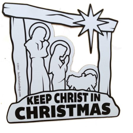 Keep christ in christmas clipart clipart freeuse stock Keep Christ In Christmas Magnet Car Truck Auto Official Knights Of Columbus  Gift clipart freeuse stock