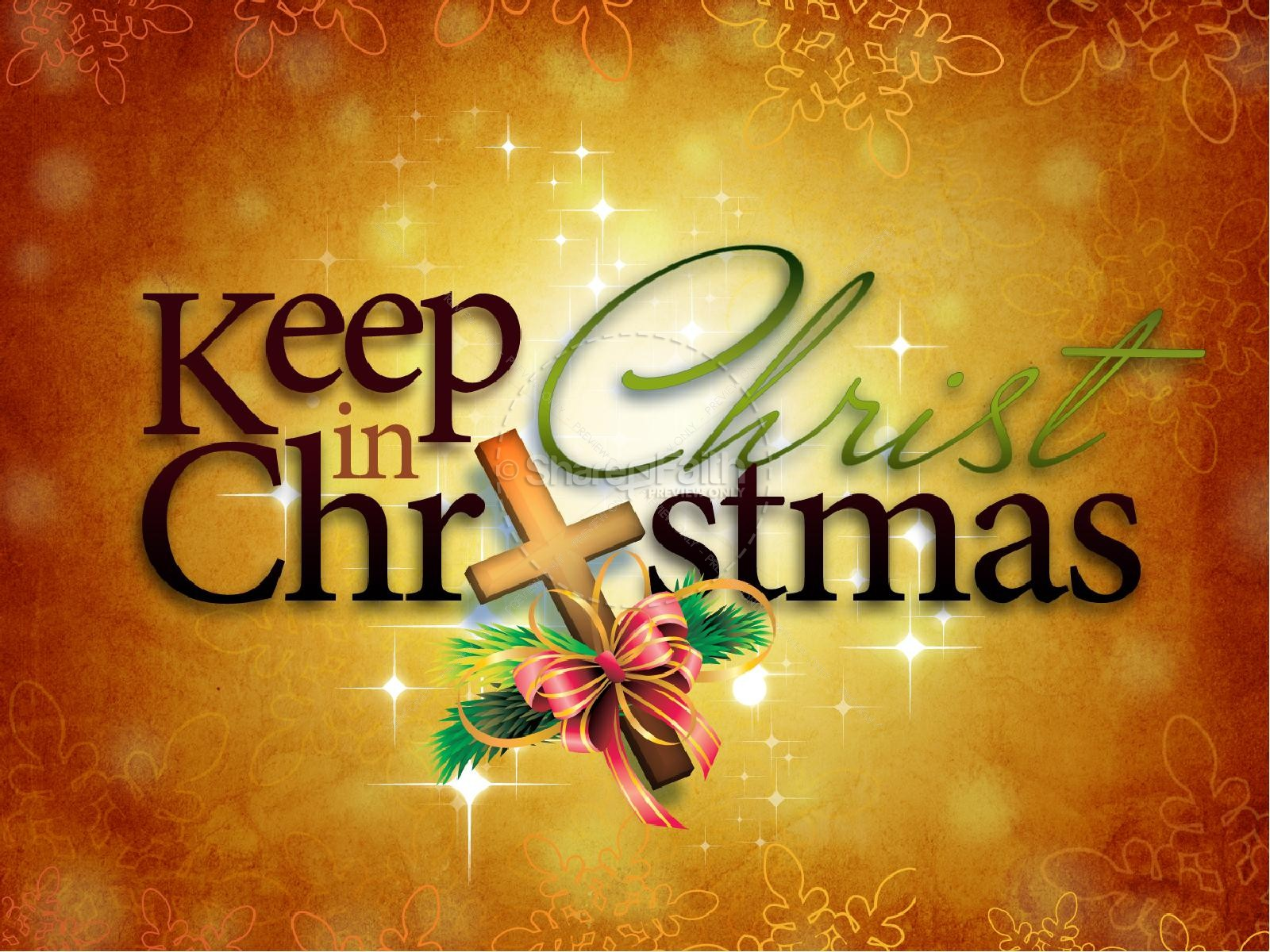 Keep christ in christmas clipart vector free download Christ in Christmas PowerPoint Template | Christmas PowerPoints vector free download