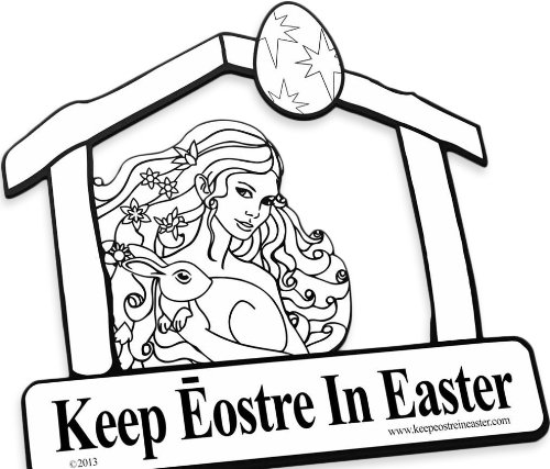 Keep christ in christmas clipart clip transparent library Keep Eostre in Easter Car Magnet [Parody of Keep Christ in Christmas magnet] clip transparent library