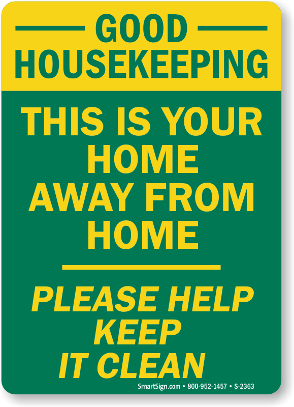 Keep clean signs clipart banner download Home Away Please Help Keep Clean Signs, Housekeeping Signs ... banner download