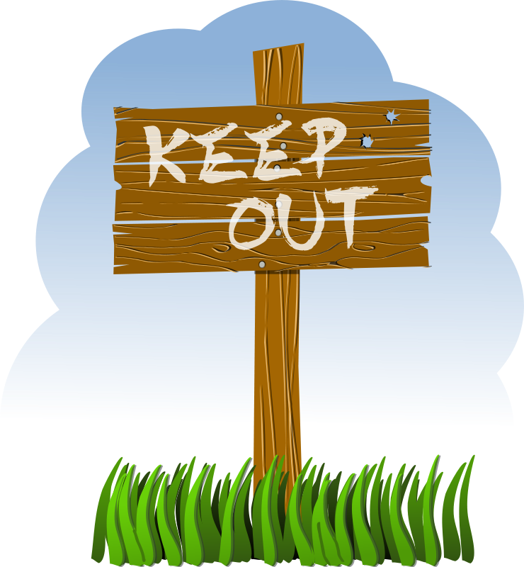 Keep clipart stock Free Clipart: Keep out! | rg1024 stock