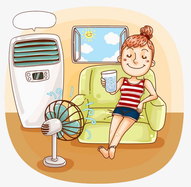 Keep cool clipart svg black and white HAVING A HARD TIME STAYING COOL THIS SUMMER? - Kenwood Village svg black and white