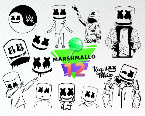 Keep it mello clipart download MARSHMALLO SVG, marshmello dj svg, marshmello t-shirt SVG ... download