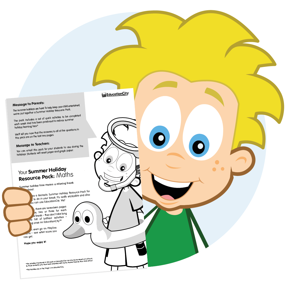 Keep them learning over the summer clipart for teachers library FREE Holiday Resource Pack: Maths - EducationCity library