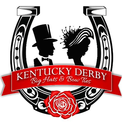 Kentucky derby hats and bowties clipart vector royalty free library Kentucky Derby: Big Hats & Bow Ties vector royalty free library