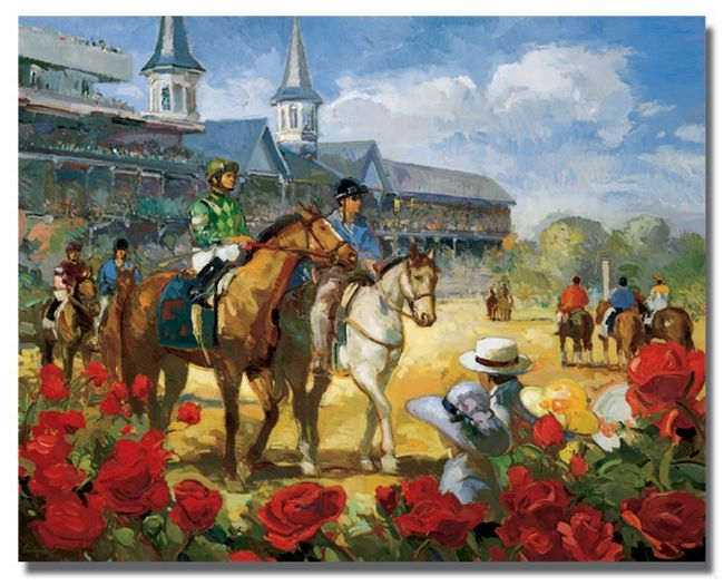 Kentucky derby horses in a row clipart png freeuse stock Free Kentucky Derby Clip Art | 2004 Kentucky Derby Poster Kentucky ... png freeuse stock