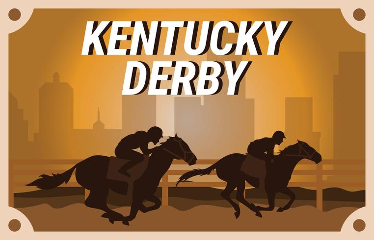 Kentucky derby horses in a row clipart graphic freeuse download Kentucky Derby Postcard Clip Art Vector - Download Free Vector Art ... graphic freeuse download