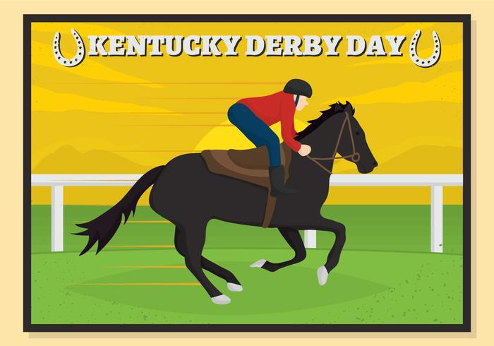 Kentucky derby horses in a row clipart graphic library library Kentucky derby postcard Vector - Download Free Vector Art, Stock ... graphic library library