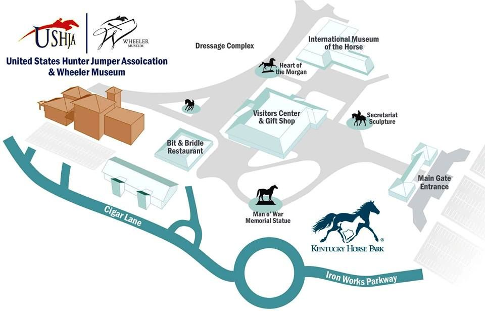 Kentucky horse park clipart banner freeuse library Map of Kentucky Horse Park, and USHJA Headquarters... Home Of The ... banner freeuse library