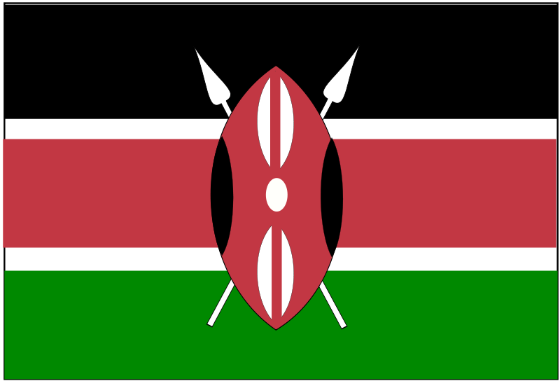 Kenya flag clipart vector library download Free Clipart: Flag of Kenya | Anonymous vector library download