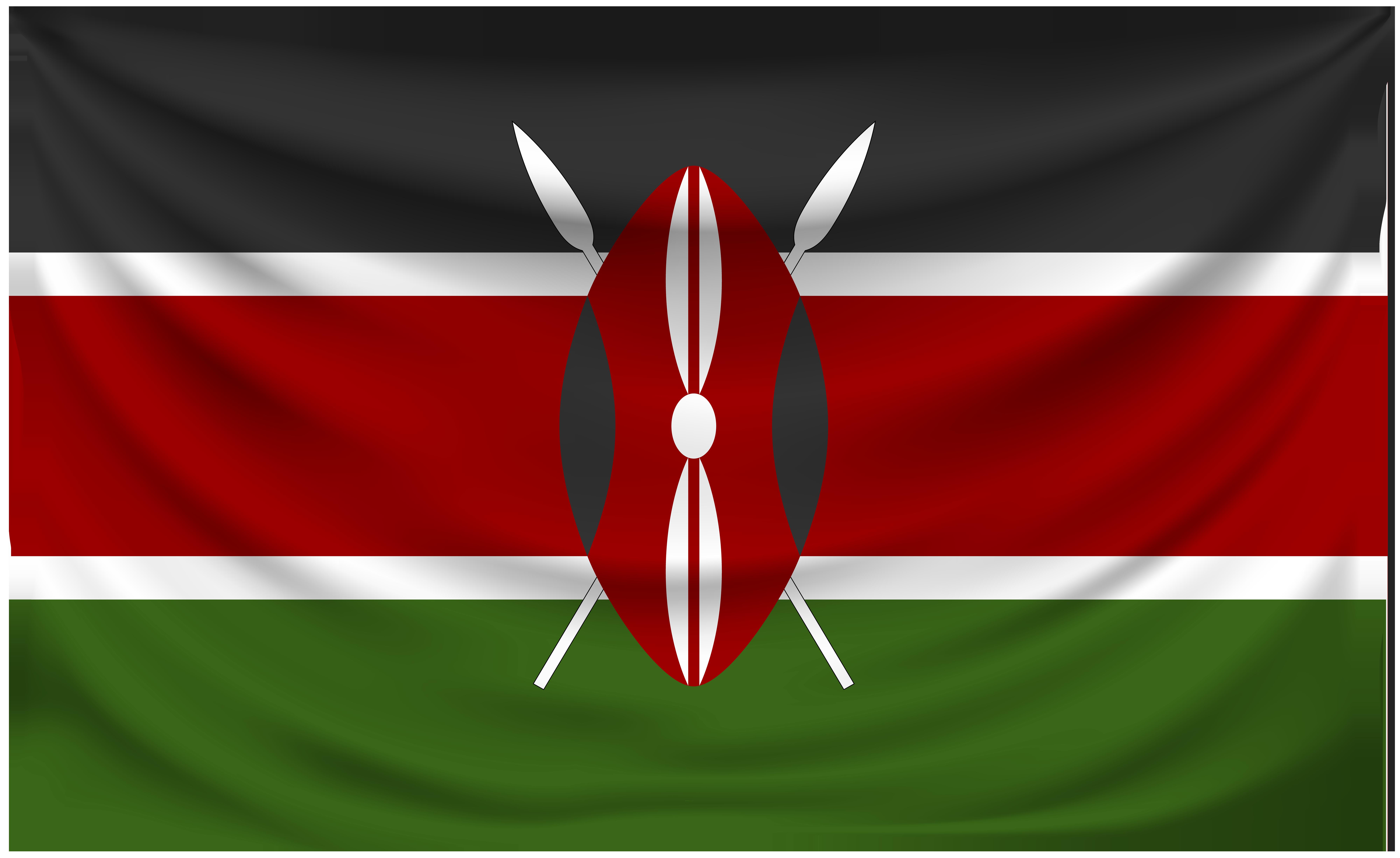 Kenya flag clipart banner black and white stock Kenya Wrinkled Flag   Gallery Yopriceville - High-Quality Images ... banner black and white stock