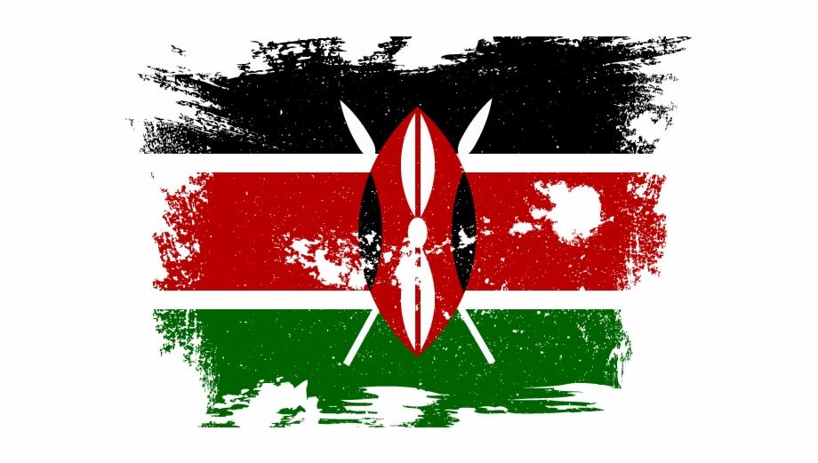 Kenya flag clipart clip art royalty free Kenyan Flag With Grunge Effect - Kenya Flag Free PNG Images ... clip art royalty free