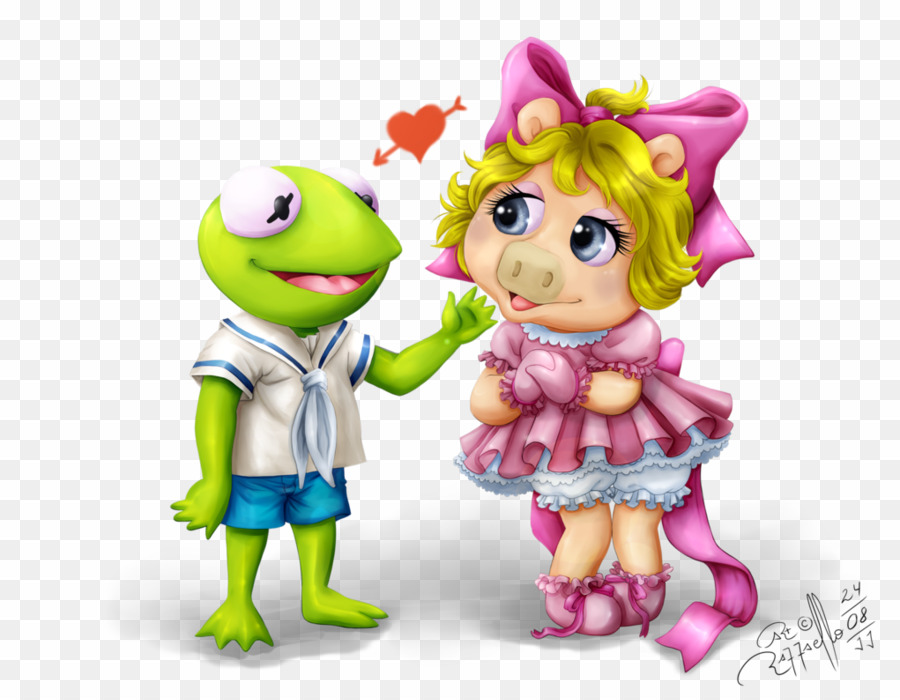 Kermit & miss piggy clipart freeuse library Muppet Babies Kermit And Miss Piggy PNG Miss Piggy Kermit The Frog ... freeuse library