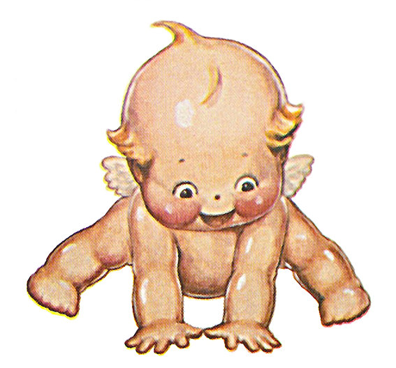 Library of kewpie doll picture black and white stock png ... (567 x 528 Pixel)